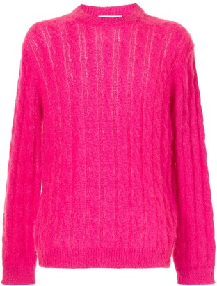 MSGM Cable-Knit Crew-Neck Jumper