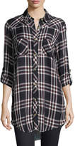 Tolani Tina Plaid Mixed-Media Tunic, Plus Size