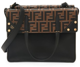 Fendi Large Flip Leather Crossbody Bag
