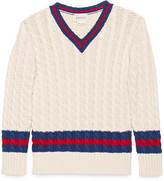 Gucci Children's cotton v-neck with Web