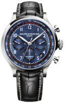 Baume & Mercier Capeland 10065 Stainless Steel & Alligator Strap Chronograph Watch