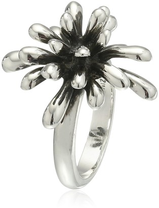 """Zina Sterling Silver """"Fireworks"""" Ring Size 6"""