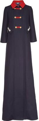 Miu Miu Contrast-Collar Floor-Length Coat