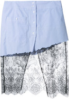 Filles a papa lace detail skirt - women - Cotton - 0
