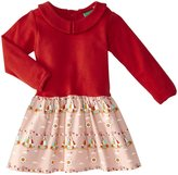 Little Green Radicals Peter Pan Dress (Baby) - Red/Pink Teepee-0-3 Months