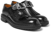 Alexander McQueen Buckled Leather Kiltie Loafers - Black