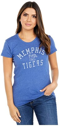 Champion College Memphis Tigers Keepsake Tee (Vintage Royal) Women's T Shirt