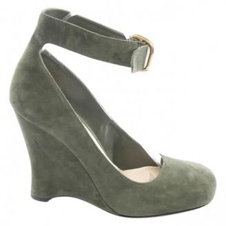 Prada \N Green Suede Heels