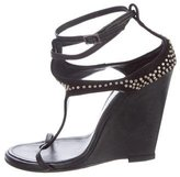 Thomas Wylde Studded T-Strap Wedges