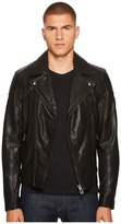 Belstaff Wingrave 2.0 Burnished Leather Moto Jacket Men's Coat