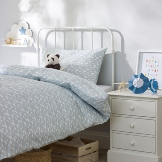 The White Company Cloud Bed Linen Set, Blue, Cot Bed