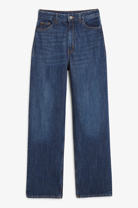 Monki Straight leg blue jeans