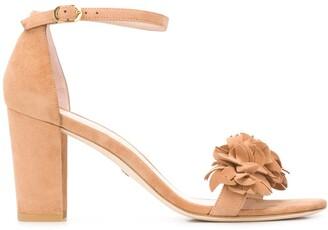 Stuart Weitzman Nearly 3D flower sandals