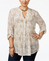 American Rag Trendy Plus Size Floral-Print Blouse, Only at Macy's