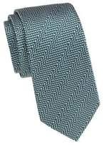 Geometric Stripe Silk Tie