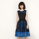 Maje Honeycomb knit and guipure dress