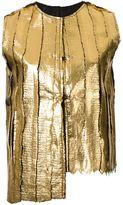 Simona Tagliaferri foil printed distressed gilet