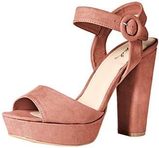 Qupid Women's Platform Sandal Heeled