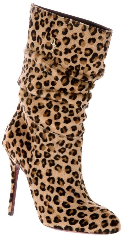 Cesare Paciotti leopard print boot