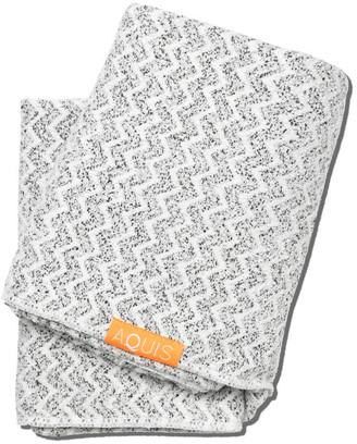 Aquis Hair Towel Lisse Luxe - Chevron