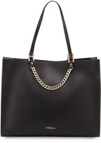 Furla Maggie Large Leather Tote Bag, Black