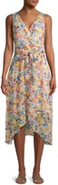 Karl Lagerfeld Paris Floral-Print Wrap Dress