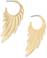 Thalia Sodi Gold-Tone Winged Hoop Earrings, Created for Macy's