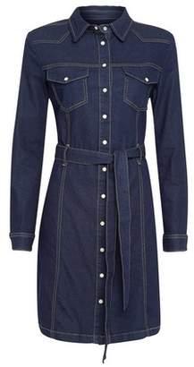 Dorothy Perkins Womens Indigo Western Denim Shirt Dress
