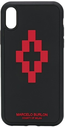 Marcelo Burlon County of Milan logo print iPhone XR case