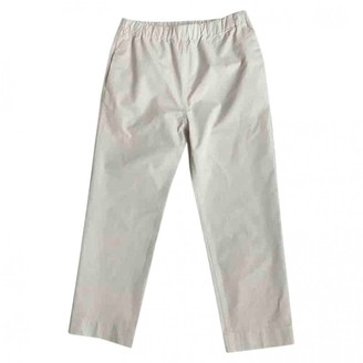 Sofie D'hoore White Cotton Trousers for Women