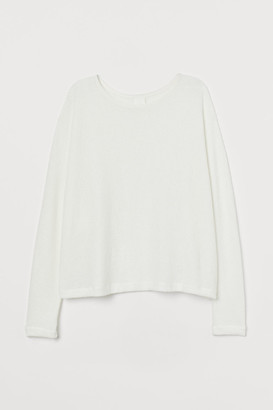 H&M Dolman-sleeved Top - White
