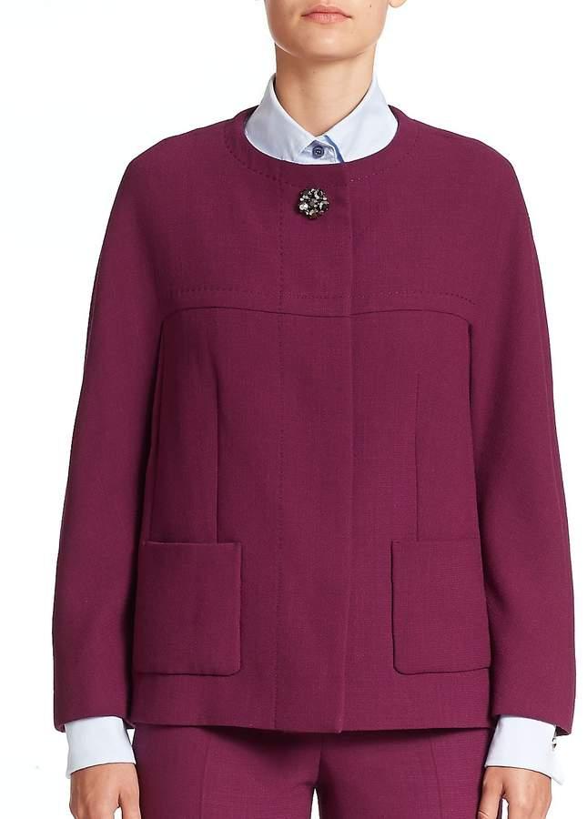 Escada Women's Jewel-Button Wool Jacket