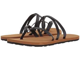 Volcom Easy Breezy Sandals (Black) Women's Sandals