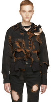 Ottolinger Black Burned Holes Denim Jacket