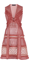 Burberry Pink Dress With Lace And Sport Mesh