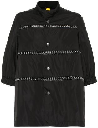 Noir Kei Ninomiya Moncler Genius 6 MONCLER leather-trimmed nylon coat