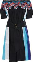 Peter Pilotto Off-The-Shoulder Lace-Trimmed Cotton-Blend Mini Dress