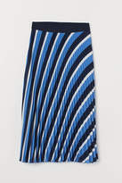H&M - Pleated Skirt - Blue