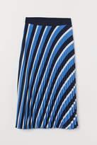 H&M - Pleated Skirt - Blue