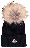 Moncler Turn-Up Beanie with Pompom