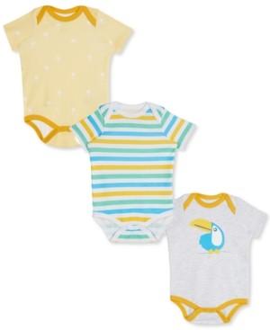 art & eden Baby Boys & Girls 3-Pk. Printed & Striped Cotton Bodysuits
