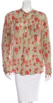 Etoile Isabel Marant Floral Print Button-Up Blouse