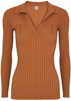 Totême Arradon ribbed stretch-knit jumper