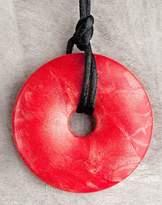 Teething Bling Red Shimmer Pendant