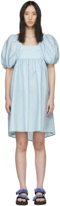 Cecilie Bahnsen Blue Silk Ragnhild Dress