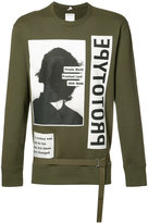 Helmut Lang X Travis Scott photograph print sweatshirt - men - Cotton - XS