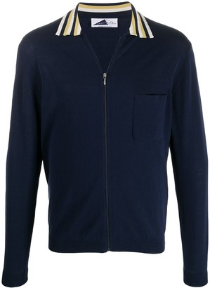 Anglozine Zip-Up Cardigan