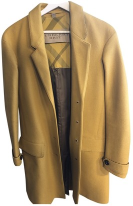Burberry Yellow Wool Coat for Women