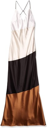 ABS by Allen Schwartz Women's Color Blocked Slip Gown