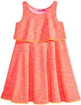 Good Lad Zebra Striped Popover Dress, Toddler and Little Girls (2T-6X)